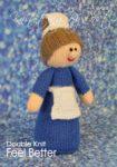 KBP-338 - Feel Better Nurse Knitting Pattern Knitted Soft Toy