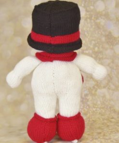 back of snowman with skates