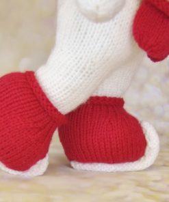 knitted snowman skates