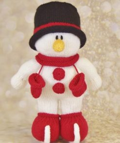 Toy snowman on skates knitting pattern