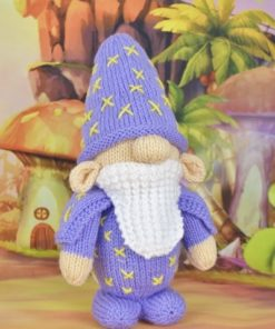wizard knitting pattern in purple toy