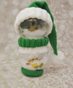 Elf bauble character knitting pattern decoration
