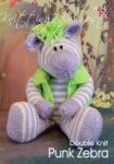 KBP-345 - Punk Zebra Knitting Pattern Knitted Soft Toy