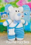 KBP-349 - Paul the Polar Bear Knitting Pattern Knitted Soft Toy