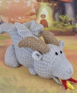 Toy Burny the Dragon Knitting Pattern