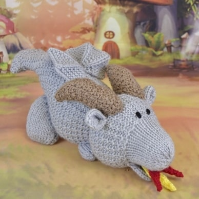 Burny the Dragon Knitting Pattern