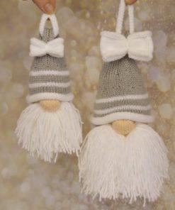 santa bauble knitting pattern