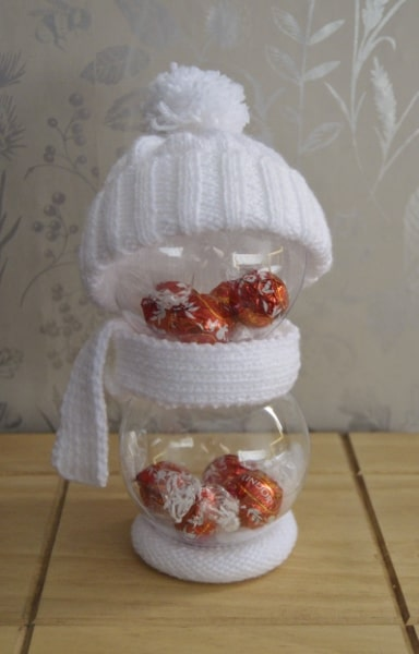 snowman baubles knitting pattern