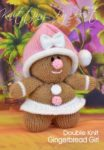 KBP-351 - Gingeerbread Girl Knitting Pattern Knitted Soft Toy