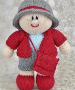 Toy Post Man Knititng Pattern
