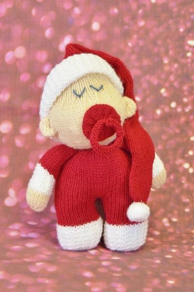 Santa Baby Toy Knitting Pattern