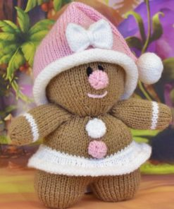 Toy gingerbread girl knitting pattern