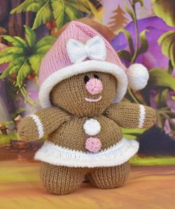 Toy knitted gingerbread girl pattern