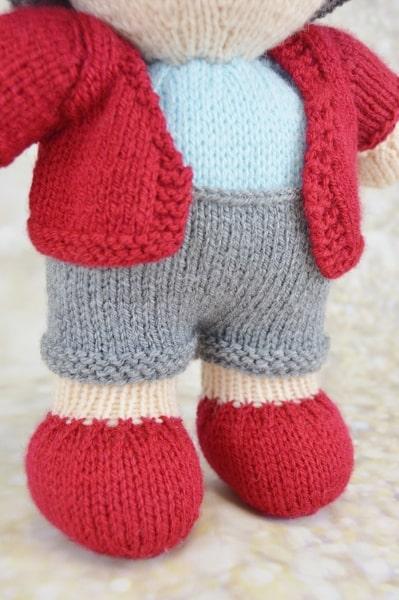 knitted postman pattern