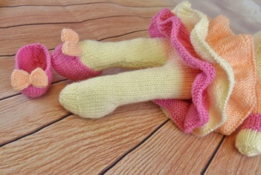 ballet shoes knitted cow ballerina