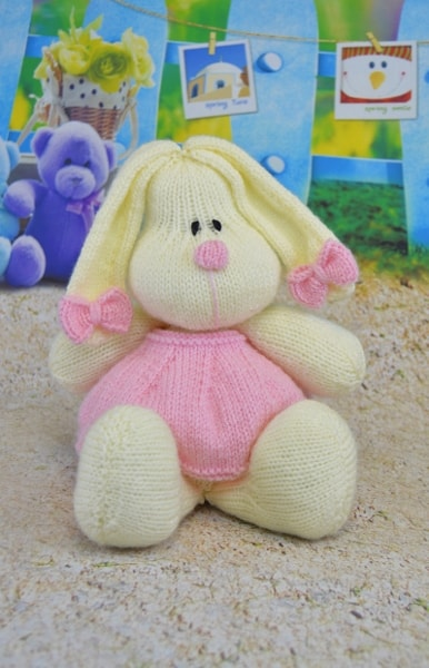 cotton candy bunny rabbit knitting pattern