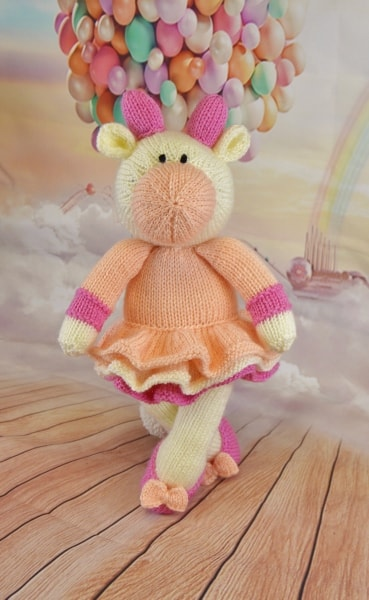 cow ballerina knitting pattern