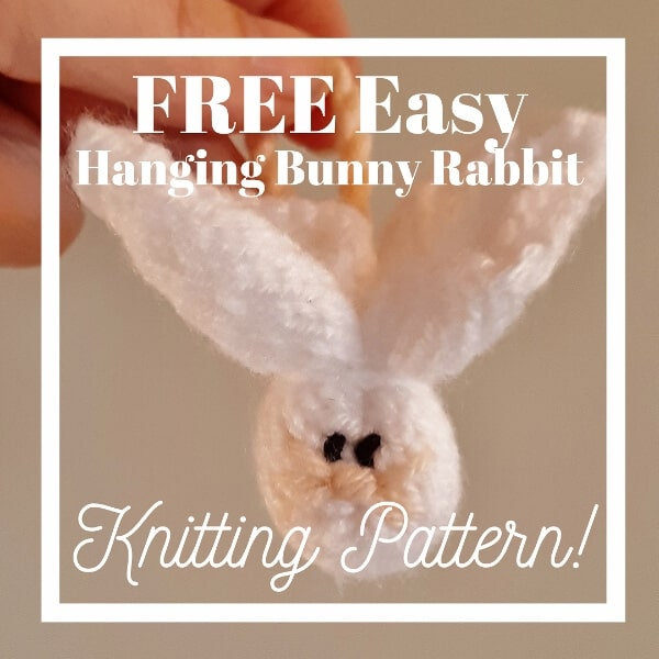 free easy folded hanging bunny rabbit knitting pattern