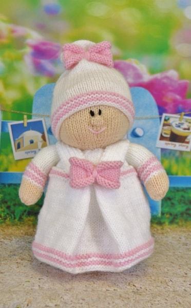 twin doll girl knitting pattern