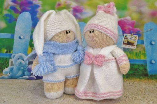 twins knitting pattern soft toy