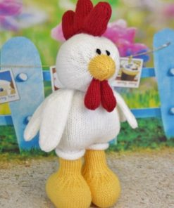 rooster hen chicken knitting pattern