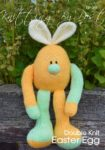 KBP-348 - Orange Easter Egg knitting pattern knitted soft toy