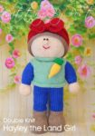 KBP-368 - Hayley Land Girl knitting pattern knitted soft toy