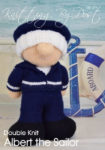 KBP-374 - Sailor Knitting Pattern Knitted Soft Toy