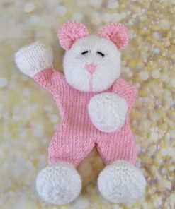 mouse comforter knitting pattern in pink